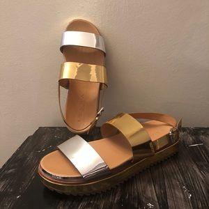 Zara Silver/Gold sandal.